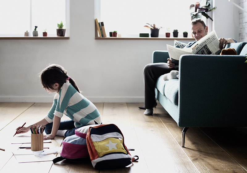 Daughter Spend Time Happiness Holiday Learning