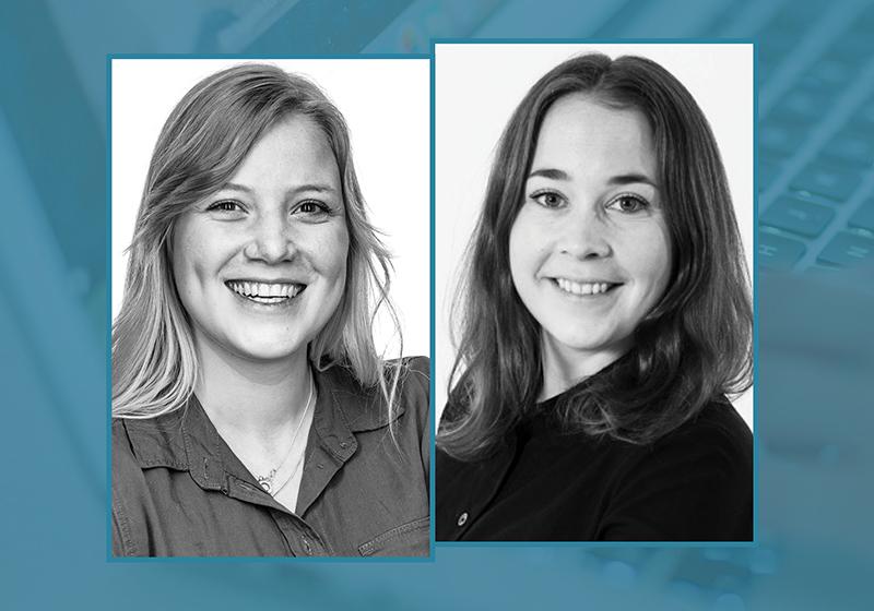 Två profilbilder på två kvinnliga UXdesigners på IST